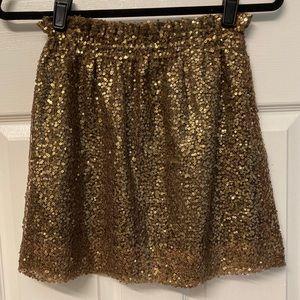 J.Crew Gold Mesh Bell Sequin Skirt